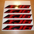 XJ6 Aufkleber, Schwingenaufkleber, Aufkleber für Seitenteile midnight black