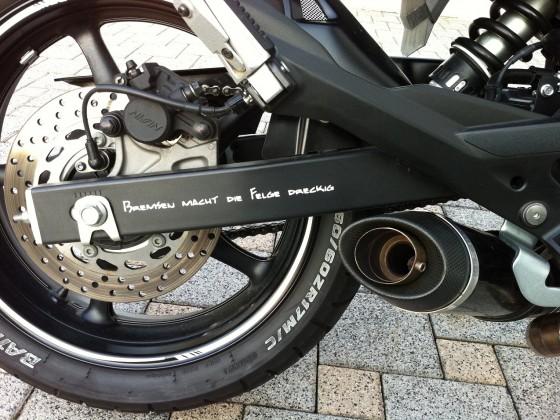 Bremsen macht die Felge dreckig